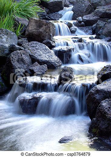 Una cascada sucia - csp0764879