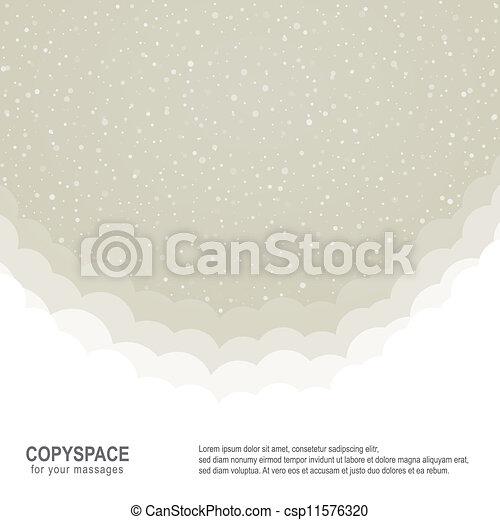 brun, étoiles, neige, fond, snowflake blanc - csp11576320
