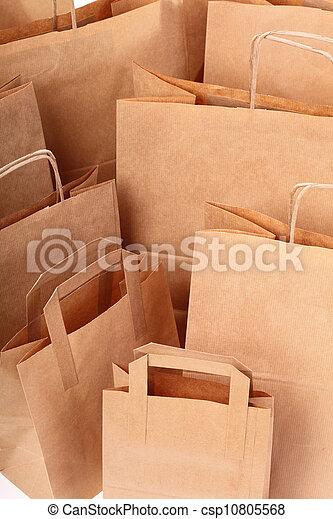 brun, achats, cadeau, fond, sacs - csp10805568