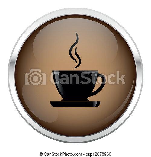 brun, café, icon. - csp12078960