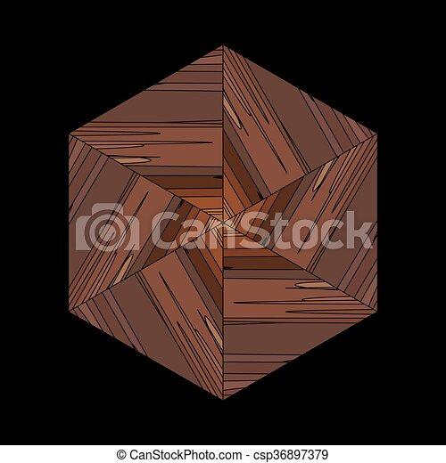 brun, formulaire, modèle, ornement, ethnique, géométrique, bambou - csp36897379