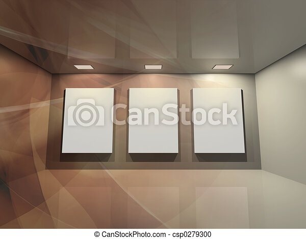 brun, -, galerie, virtuel - csp0279300