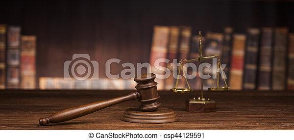 brun, justice, bois, fond, droit & loi, concept - csp44129591