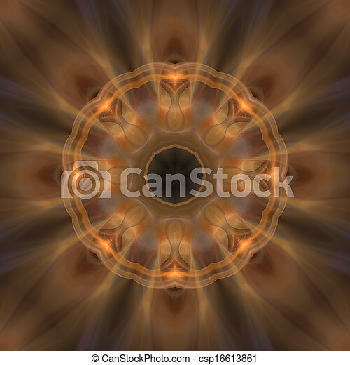brun, mandala, mjuk, bakgrund - csp16613861