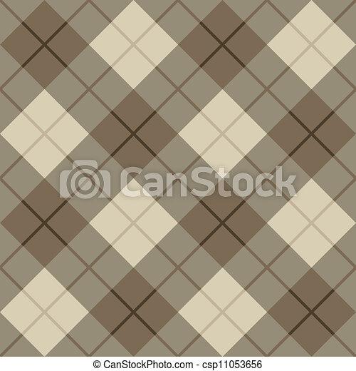 brun, plaid, bias, beige - csp11053656