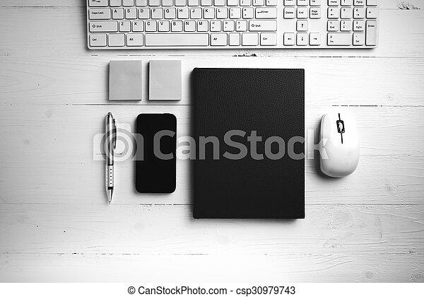 Brun style informatique bureau cahier noir fournitures