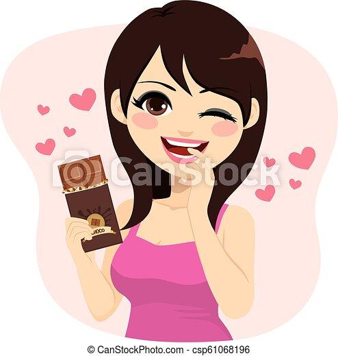 Brunette Chocolate Woman - csp61068196