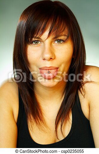 Brunette emotions - csp0235055