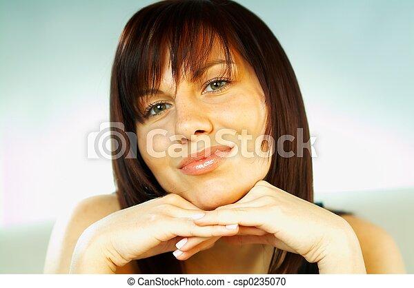 Brunette emotions - csp0235070