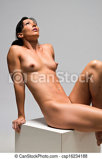 Statuesque naked brunette apologise, but
