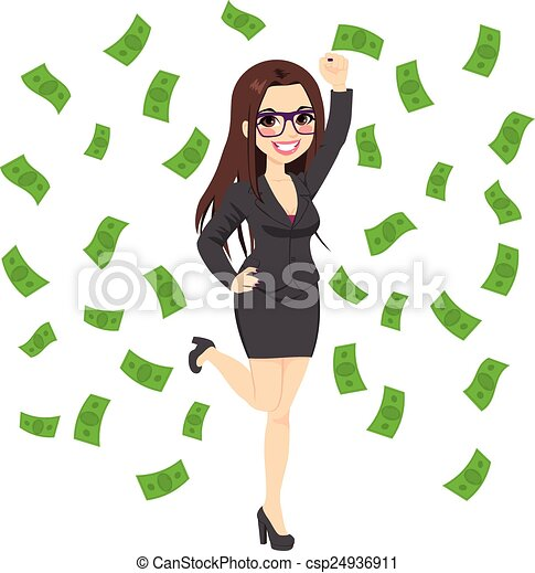 Brunette Rich Successful Business Woman - csp24936911
