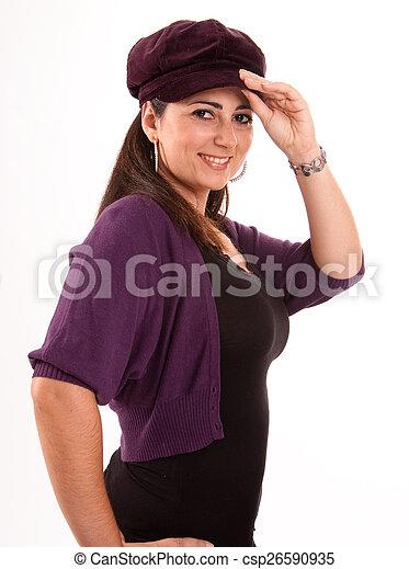 Brunette with cap - csp26590935