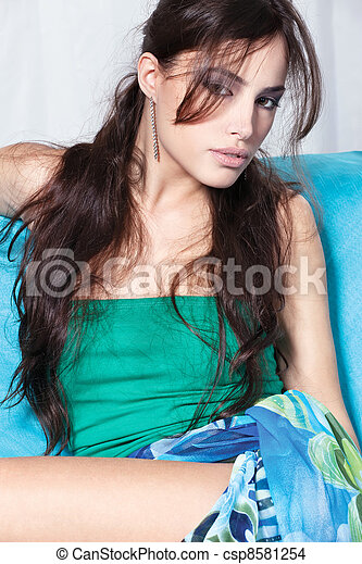brunette woman - csp8581254