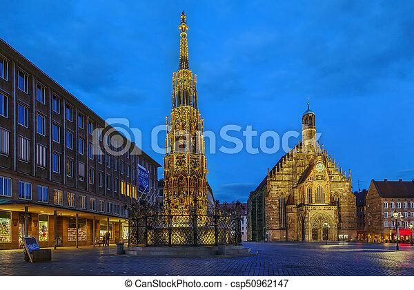 Brunnen, Brunnen, Deutschland, Schoner, Nürnberg   Csp50962147