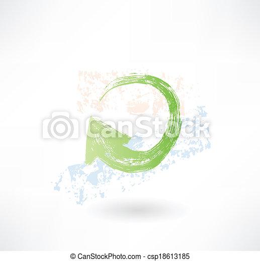 Brush green update aroow icon. - csp18613185