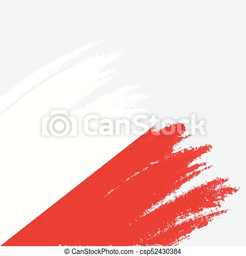 Brush painted Austria flag. Hand drawn style illustration with a grunge effect and watercolor. Austria flag with grunge texture. Vector illustration. - csp52430384