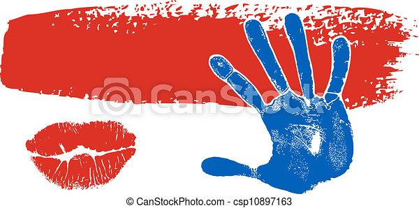 Brush stroke banner  - csp10897163