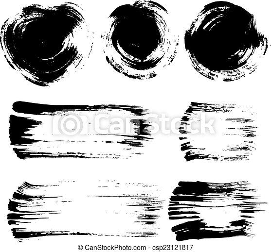 Brush stroke elements set - csp23121817