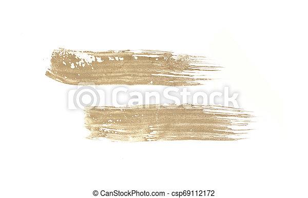 Brush stroke isolated on white background - csp69112172