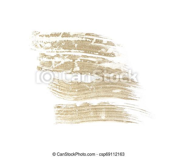 Brush stroke isolated on white background - csp69112163
