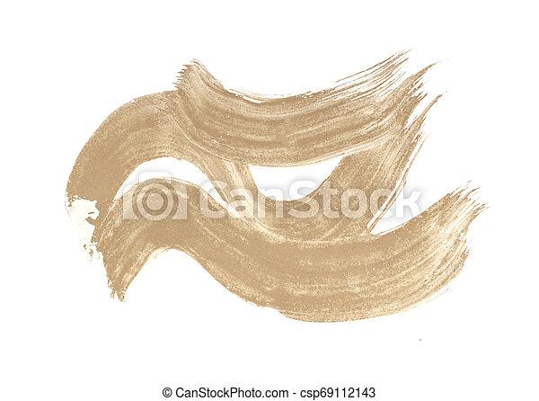 Brush stroke isolated on white background - csp69112143