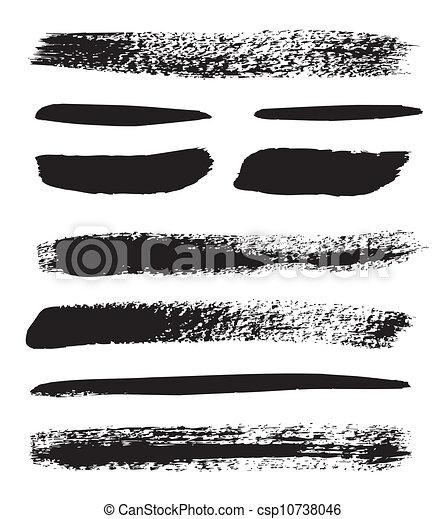 Brush strokes - csp10738046