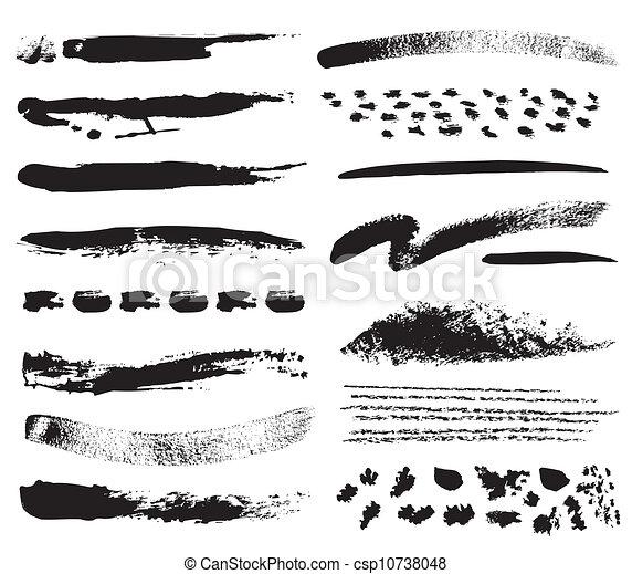 Brush strokes - csp10738048