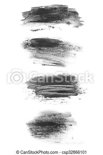 brush strokes isolated on white - csp32866101