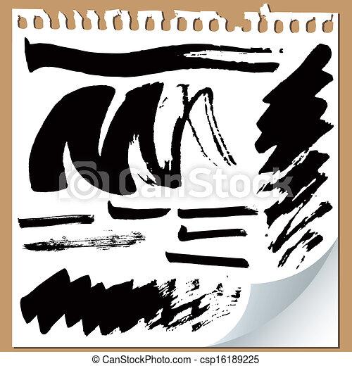 Brush strokes on paper - csp16189225