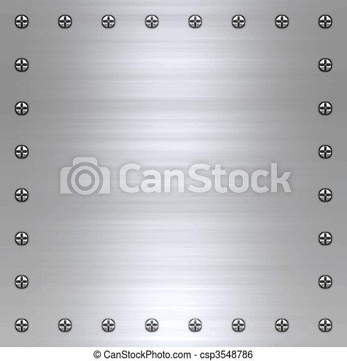 brushed metal background - csp3548786
