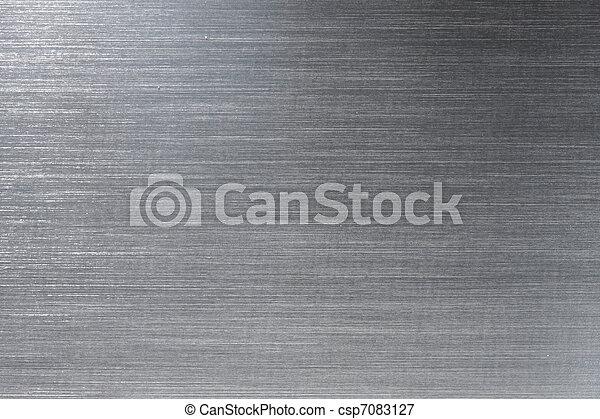 Brushed metal plate - csp7083127