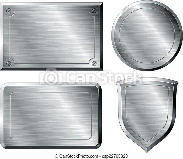Brushed metal shapes - csp22763323