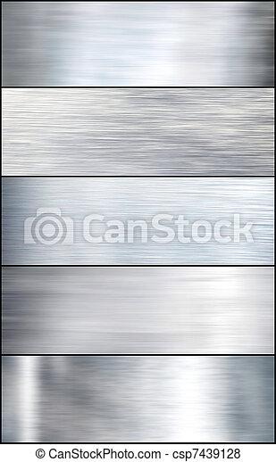 Brushed silver metal. Set - csp7439128
