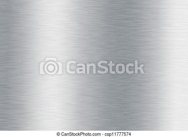 brushed silver metallic background - csp11777574