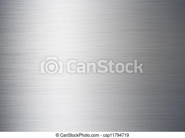 brushed silver metallic background - csp11794719