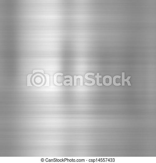 Brushed steel metallic plate - csp14557433