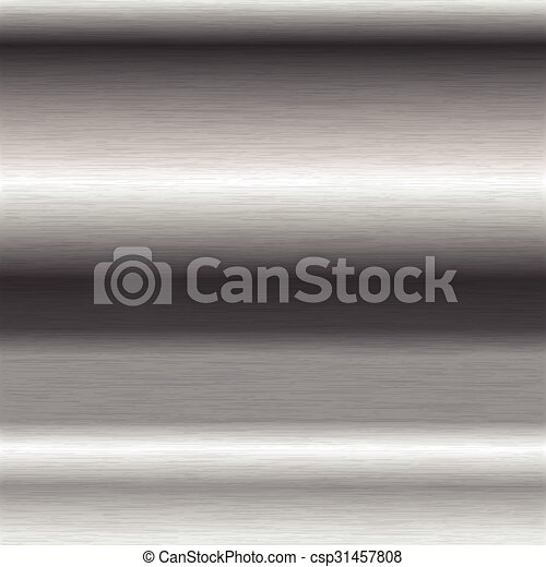 brushed steel surface - csp31457808