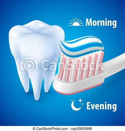Brushing Teeth - csp35855968