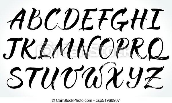 Brushpen Lettering Vector Alphabet