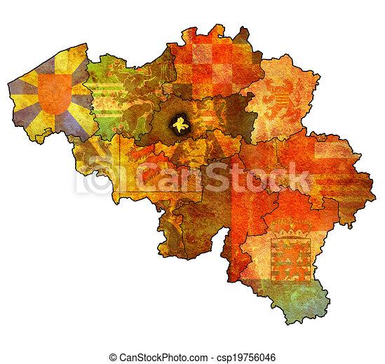 brussels on map of belgium csp19756046