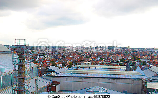 Brussels roof top view. - csp58978823