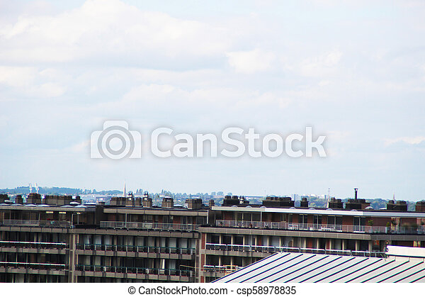 Brussels roof top view. - csp58978835