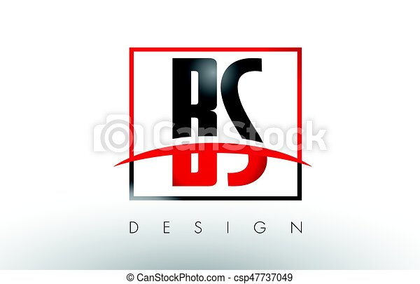 bs b s logo letters with red and black colors and swoosh eps rh canstockphoto com red and black logo answers red and black logo
