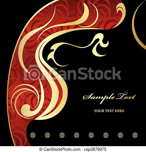 bstract Gold luxury background - csp3876975