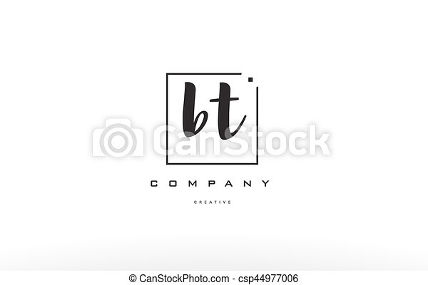 Bt B T Hand Writing Letter Company Logo Icon Design Bt B T Hand