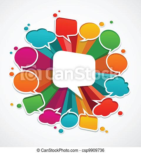 bubblar, anförande, bakgrund - csp9909736