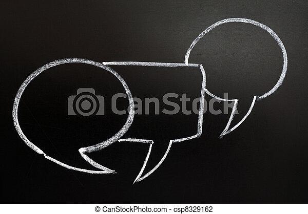 bubblar, anförande - csp8329162