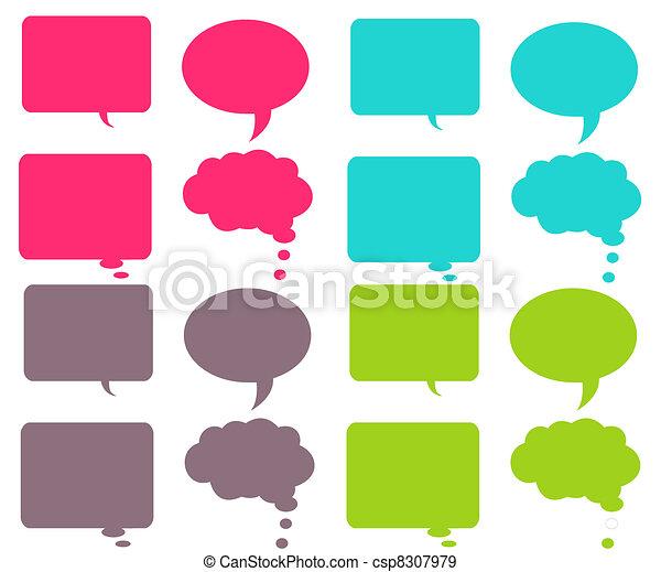 bubblar, färgrik, pratstund - csp8307979