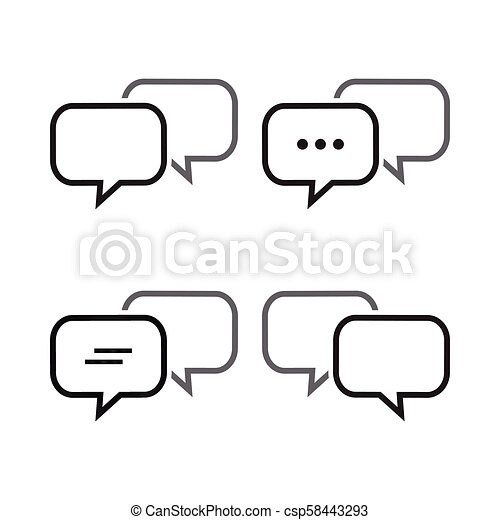 Bubble Chat Outline Icon Template