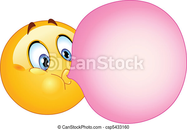 bubble gum emoticon emoticon blowing a bubble gum rh canstockphoto com princess bubblegum clipart bubble gum machine clipart